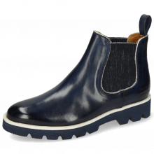 Bottines Selina 37 Navy Binding Cherso Silver