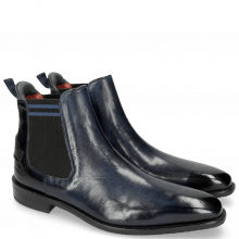 Bottines Dave 5 Nappa Navy Electric Blue
