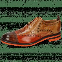 Derbies Eddy 48 Croco Wood Winter Orange Tan