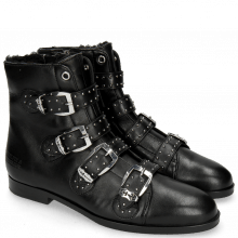 Bottines Susan 44 Nappa Black Sword Buckle