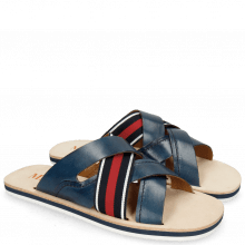 Sandales Sam 12 Navy Strap Red