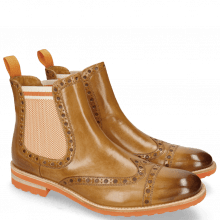 Bottines Eddy 46 Sand Underlay Brown Elastic Biker Orange