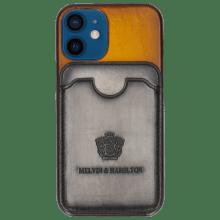 Coque iPhone Twelve Mini Vegas Yellow Wallet Grigio