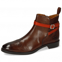 Bottines Betty 8 Pisa Mid Brown Strap Winter Orange