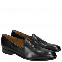 Mocassins Prince 2 Black Embrodery Black