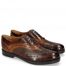 Richelieu Amelie 10 Turtle Mid Brown Python