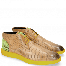 Sneakers Newton 2 Franky Perfo Digital Underlay Suede Yellow