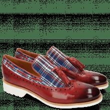 Mocassins Amelie 60 Textile Check Rich Red