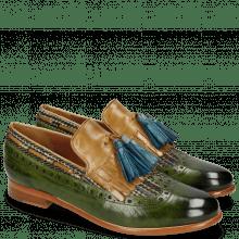 Mocassins Selina 3 Ultra Green Textile Bambino Olivine Tassel