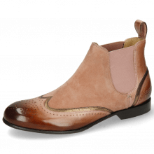 Bottines Sally 19 Rose Nappa Aztek Bronze Sheep Suede Old