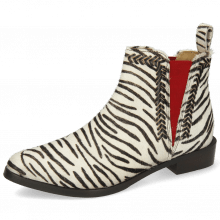Bottines Marlin 10 Hairon Zebra Elastic Red