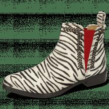 Bottines Marlin 10 Hairon Zebra Elastic Red