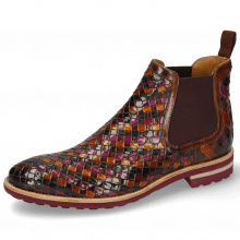 Bottines Brad 6 Woven Multi Elastic Burgundy
