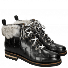 Bottines Eliza 2 Turtle Black Fur Minky Greytone