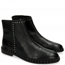Bottines Susan 47 Nappa Perfo Black