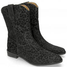 Bottines Marlin 31 Leo Glitter Black Binding Nappa Black