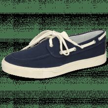 Chaussures bateau Adrian 8 Canvas Navy Vegas White