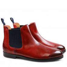 Bottines Susan 10 Crust Red Elastic Navy HRS
