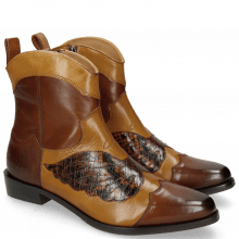 Bottines Marlin 37 Mid Brown Sand Python Brown