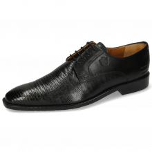 Derbies Xabi 3 Venice Lizzard Black M&H Rubber Navy