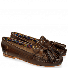 Mocassins Bridget 2 Milano Dark Brown Rivets Multi