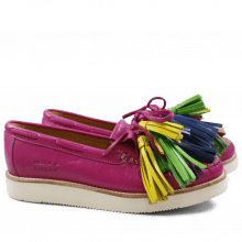 Mocassins Bea 4 Salerno Electric Fuxia Tassel Multi New Malden White