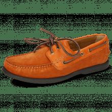 Chaussures bateau Jason 1 Suede Pattini Orange Rio Orange
