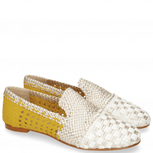 Mocassins Kate 24 Woven Satin Silver