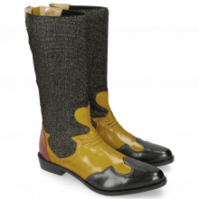 Bottines Marlin 35 Petrol Yellow Stefy Black Gold