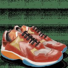 Sneakers Flo 1 Suede Pattini Pompe Ruby Yellow Vegas Lilac Milled White Cherso Tangerine