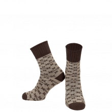 Chaussettes Charlie 1 Crew Socks Beige Brown