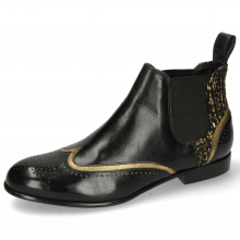 Bottines Sally 19 Venito Black Textile Tweed