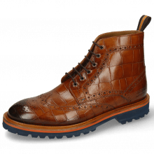 Bottines Matthew 7 Turtle Cognac Loop Orange Brown