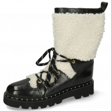 Bottines Eliza 7 Black Sherling White Accessory Gold