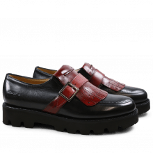 Monks Kelly 14 Black Strap Burgundy