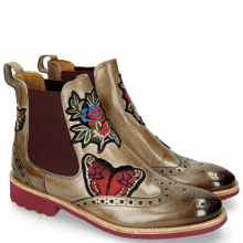 Bottines Amelie 44 Marble Embrodery Bee Flower