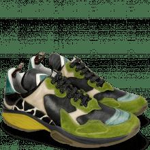 Sneakers Kobe 1 Suede Pattini New Grass Pine Verde Chiaro Nappa Black Hairon Giraffe