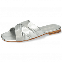 Mules Elodie 46 Nappa Silver LS Flex