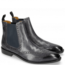 Bottines Xabi 2 Berlin Navy Elastic Navy Rubber Navy