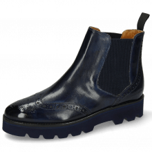 Bottines Selina 6 Marine Elastic Ribbed