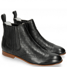 Bottines Sally 129 Nappa Glove Perfo Black