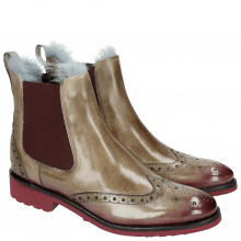 Bottines Amelie 5 Marble Shade Burgundy Fur Lining Turquoise Rook D Burgundy