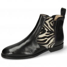 Bottines Susan 34 Black Hairon Zebra Elastic