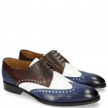 Derbies Kane 5 Saphir Mogano Soft Patent White