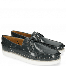 Mocassins Jim 1 Soft Patent Navy Rivets