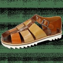 Sandales Sam 29 Classic Brown Arancio Sand Olivine Wood