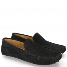 Mocassins Nelson 1 Suede Pattini Black
