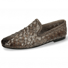 Mocassins Mandy 1 Interlace Scale Weave Grey