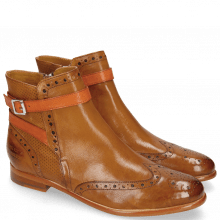 Bottines Selina 25 Pisa Perfo Cognac Strap Orange