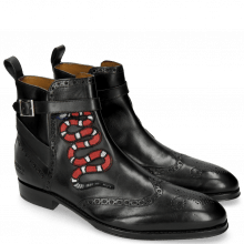 Bottines Kane 9 Black Strap Black Patch Snake